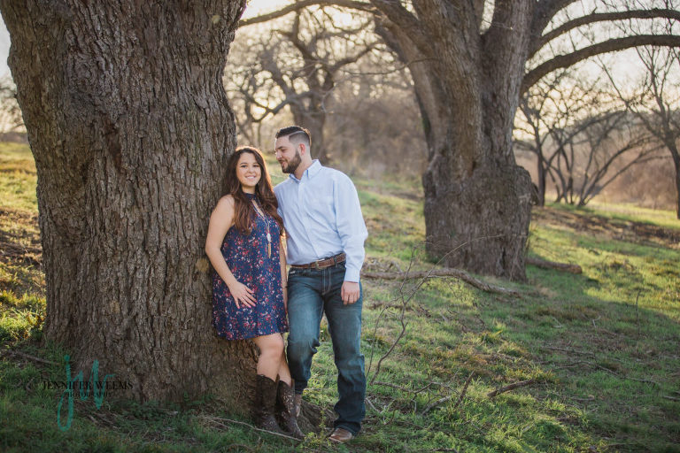 Austin Engagement Session, Austin Wedding Photographer, Commons Ford Ranch, sunset, lake, water, trees, cowboy, rustic, Jennifer Weems Photography, www.jenniferweems.com